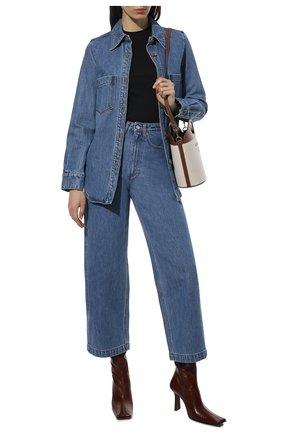 Женские джинсы NANUSHKA голубого цвета, арт. NW21CRPA01455   Фото 2