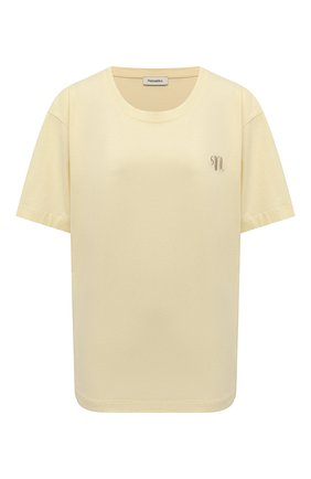 Женская хлопковая футболка NANUSHKA кремвого цвета, арт. NM21RSTP00971   Фото 1