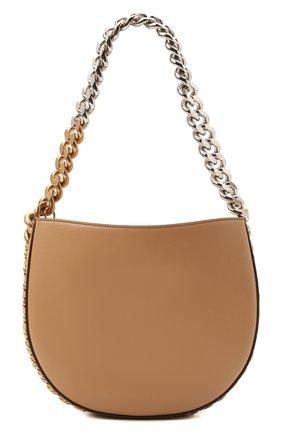 Женская сумка chunky chain medium STELLA MCCARTNEY бежевого цвета, арт. 700236/W8839 | Фото 1 (Размер: medium; Материал: Текстиль, Экокожа; Сумки-технические: Сумки top-handle)