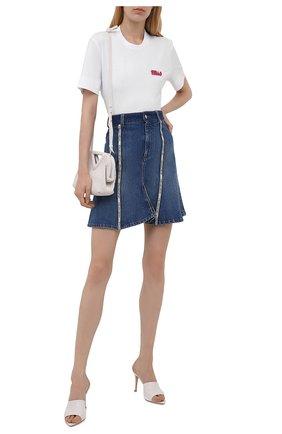 Женская хлопковая футболка STELLA MCCARTNEY белого цвета, арт. 603736/SPW03 | Фото 2 (Длина (для топов): Стандартные; Рукава: Короткие; Материал внешний: Хлопок; Стили: Спорт-шик; Принт: С принтом; Женское Кросс-КТ: Футболка-одежда)