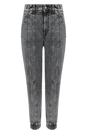 Женские джинсы STELLA MCCARTNEY серого цвета, арт. 603708/S0H41   Фото 1 (Материал внешний: Хлопок; Длина (брюки, джинсы): Стандартные; Стили: Кэжуэл; Кросс-КТ: Деним; Силуэт Ж (брюки и джинсы): Слим)