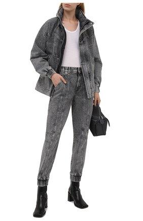 Женские джинсы STELLA MCCARTNEY серого цвета, арт. 603708/S0H41   Фото 2 (Материал внешний: Хлопок; Длина (брюки, джинсы): Стандартные; Стили: Кэжуэл; Кросс-КТ: Деним; Силуэт Ж (брюки и джинсы): Слим)