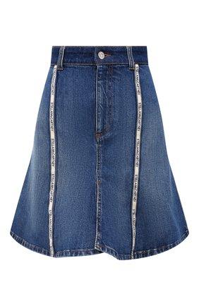 Женская джинсовая юбка STELLA MCCARTNEY синего цвета, арт. 603704/S0H47 | Фото 1 (Длина Ж (юбки, платья, шорты): Мини; Материал внешний: Хлопок; Стили: Гламурный; Кросс-КТ: Деним; Женское Кросс-КТ: Юбка-одежда)