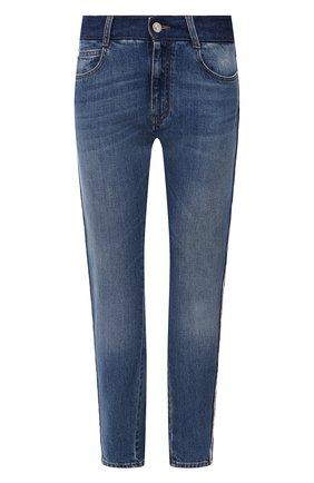 Женские джинсы STELLA MCCARTNEY синего цвета, арт. 603702/S0H47 | Фото 1 (Материал внешний: Хлопок; Длина (брюки, джинсы): Стандартные; Стили: Кэжуэл; Кросс-КТ: Деним; Силуэт Ж (брюки и джинсы): Слим)
