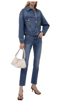 Женские джинсы STELLA MCCARTNEY синего цвета, арт. 603702/S0H47 | Фото 2 (Материал внешний: Хлопок; Длина (брюки, джинсы): Стандартные; Стили: Кэжуэл; Кросс-КТ: Деним; Силуэт Ж (брюки и джинсы): Слим)