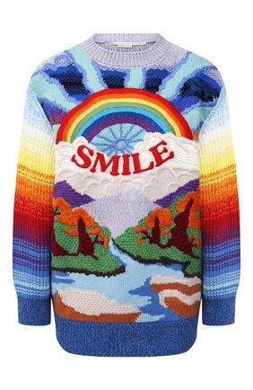 Женский свитер из шерсти и хлопка STELLA MCCARTNEY разноцветного цвета, арт. 602887/S2238   Фото 1