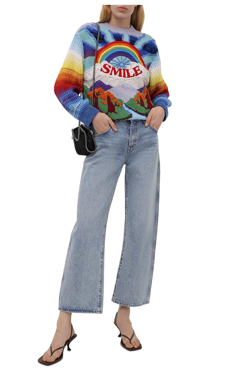 Женский свитер из шерсти и хлопка STELLA MCCARTNEY разноцветного цвета, арт. 602887/S2238   Фото 2