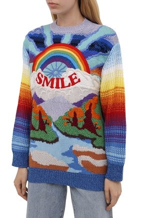 Женский свитер из шерсти и хлопка STELLA MCCARTNEY разноцветного цвета, арт. 602887/S2238   Фото 3