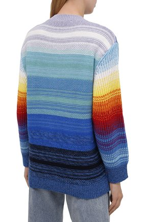 Женский свитер из шерсти и хлопка STELLA MCCARTNEY разноцветного цвета, арт. 602887/S2238   Фото 4