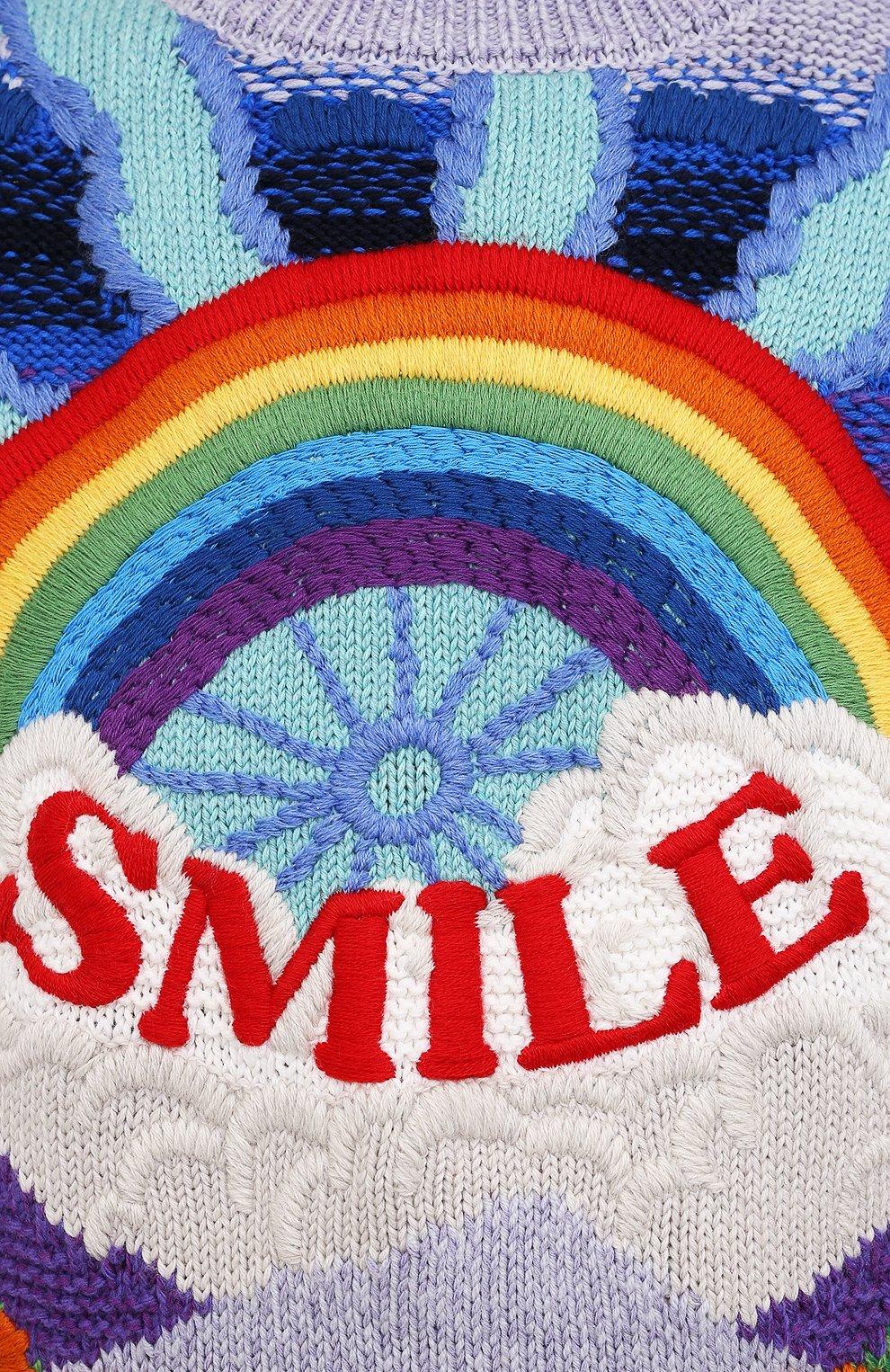 Женский свитер из шерсти и хлопка STELLA MCCARTNEY разноцветного цвета, арт. 602887/S2238   Фото 5