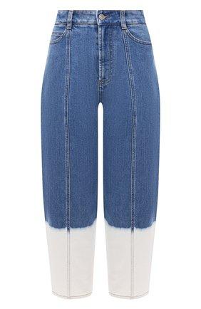 Женские джинсы STELLA MCCARTNEY голубого цвета, арт. 602559/S0H45 | Фото 1 (Материал внешний: Хлопок; Длина (брюки, джинсы): Стандартные; Стили: Гламурный; Кросс-КТ: Деним; Силуэт Ж (брюки и джинсы): Прямые)