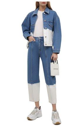 Женские джинсы STELLA MCCARTNEY голубого цвета, арт. 602559/S0H45 | Фото 2 (Материал внешний: Хлопок; Длина (брюки, джинсы): Стандартные; Стили: Гламурный; Кросс-КТ: Деним; Силуэт Ж (брюки и джинсы): Прямые)