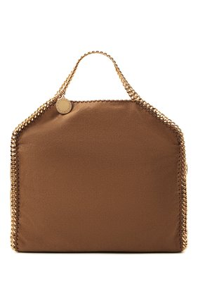 Женский сумка-тоут falabella STELLA MCCARTNEY коричневого цвета, арт. 234387/W9355   Фото 1 (Материал: Текстиль; Размер: large; Сумки-технические: Сумки-шопперы)