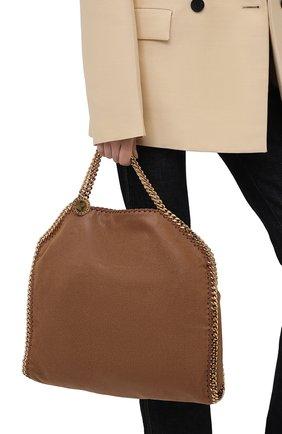 Женский сумка-тоут falabella STELLA MCCARTNEY коричневого цвета, арт. 234387/W9355   Фото 2 (Материал: Текстиль; Размер: large; Сумки-технические: Сумки-шопперы)