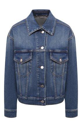 Женская джинсовая куртка STELLA MCCARTNEY синего цвета, арт. 603705/S0H47 | Фото 1 (Материал внешний: Хлопок; Длина (верхняя одежда): Короткие; Рукава: Длинные; Стили: Кэжуэл; Кросс-КТ: Деним, Куртка)