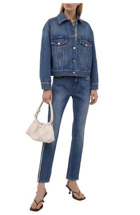 Женская джинсовая куртка STELLA MCCARTNEY синего цвета, арт. 603705/S0H47 | Фото 2 (Материал внешний: Хлопок; Длина (верхняя одежда): Короткие; Рукава: Длинные; Стили: Кэжуэл; Кросс-КТ: Деним, Куртка)