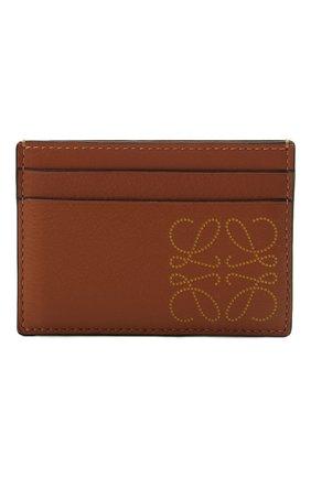 Женский кожаный футляр для кредитных карт LOEWE коричневого цвета, арт. C500322X01 | Фото 1