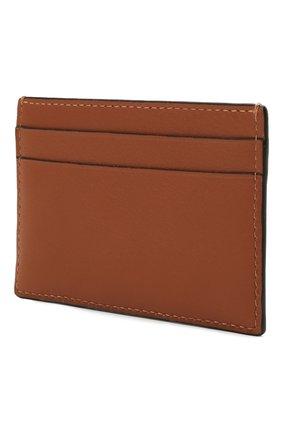 Женский кожаный футляр для кредитных карт LOEWE коричневого цвета, арт. C500322X01 | Фото 2