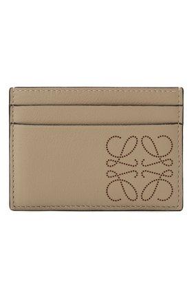 Женский кожаный футляр для кредитных карт LOEWE светло-бежевого цвета, арт. C500322X01 | Фото 1