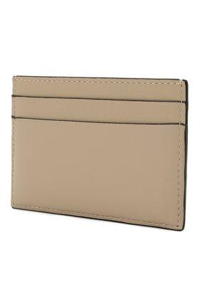 Женский кожаный футляр для кредитных карт LOEWE светло-бежевого цвета, арт. C500322X01 | Фото 2