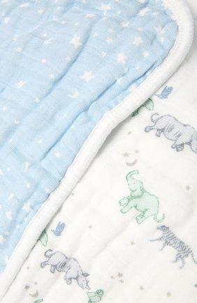 Детского хлопковое одеяло ADEN+ANAIS голубого цвета, арт. ADBC10007 | Фото 2