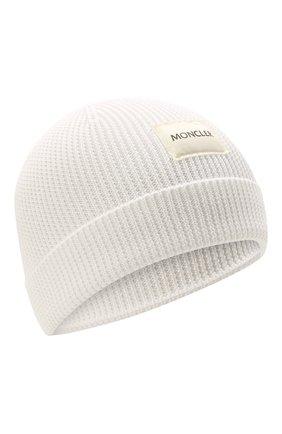 Детского хлопковая шапка MONCLER белого цвета, арт. G2-951-9Z709-00-V9217 | Фото 1