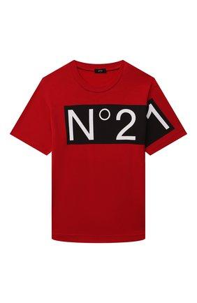 Детская хлопковая футболка N21 красного цвета, арт. N21119/N0153/N21T86U | Фото 1