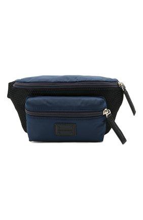 Детская поясная сумка DOLCE & GABBANA темно-синего цвета, арт. EM0103/AT994   Фото 1 (Материал: Текстиль)