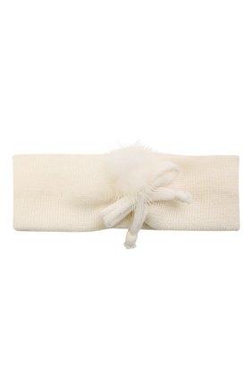 Детская шерстяная повязка CATYA белого цвета, арт. 125774 | Фото 1