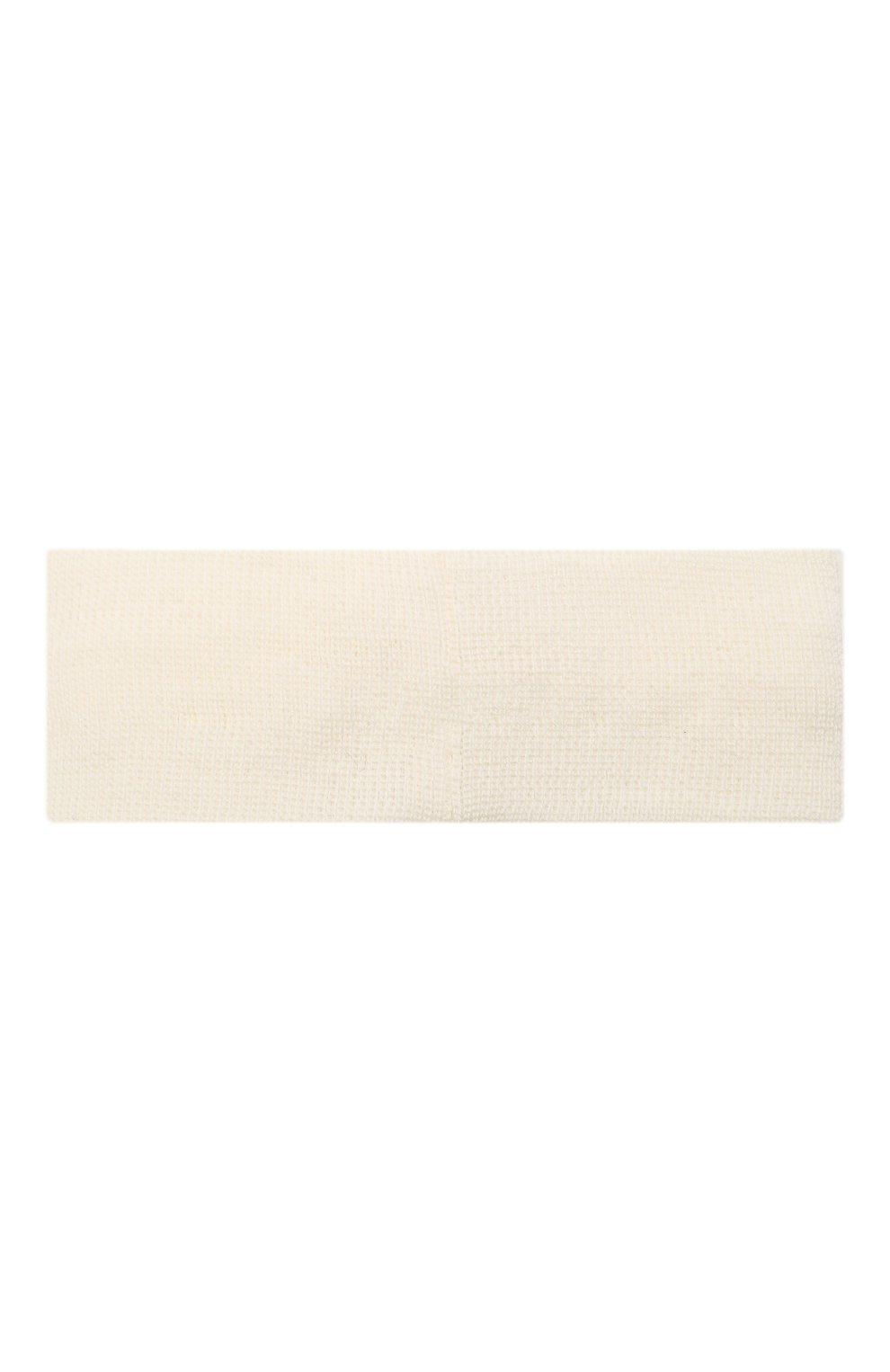 Детская шерстяная повязка CATYA белого цвета, арт. 125774 | Фото 2 (Материал: Шерсть)