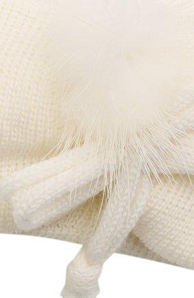 Детская шерстяная повязка CATYA белого цвета, арт. 125774 | Фото 3 (Материал: Шерсть)