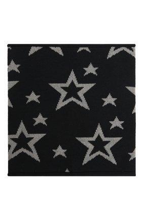 Детский шерстяной шарф-снуд CATYA темно-синего цвета, арт. 125754 | Фото 2