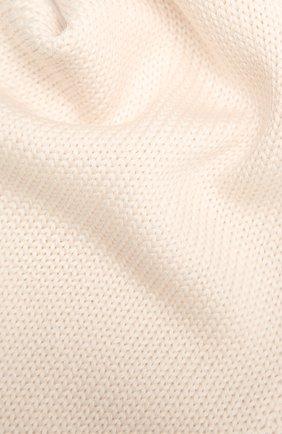 Детский шерстяной шарф CATYA кремвого цвета, арт. 125747 | Фото 2