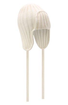 Детского шерстяная шапка CATYA белого цвета, арт. 125742 | Фото 1