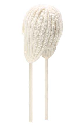 Детского шерстяная шапка CATYA белого цвета, арт. 125742 | Фото 2