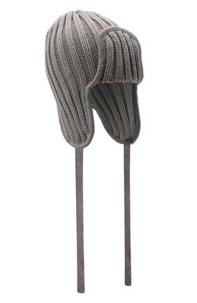 Детского шерстяная шапка CATYA серого цвета, арт. 125742 | Фото 1