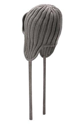 Детского шерстяная шапка CATYA серого цвета, арт. 125742 | Фото 2
