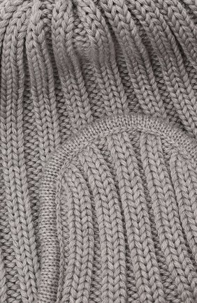 Детского шерстяная шапка CATYA серого цвета, арт. 125742 | Фото 3 (Материал: Шерсть)