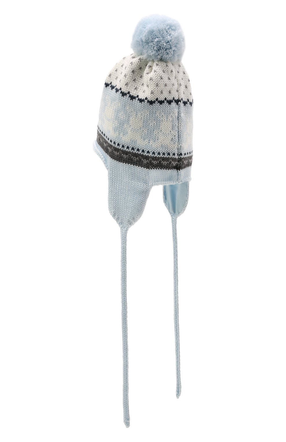 Детского шерстяная шапка CATYA голубого цвета, арт. 125609/J0 | Фото 2 (Материал: Шерсть)