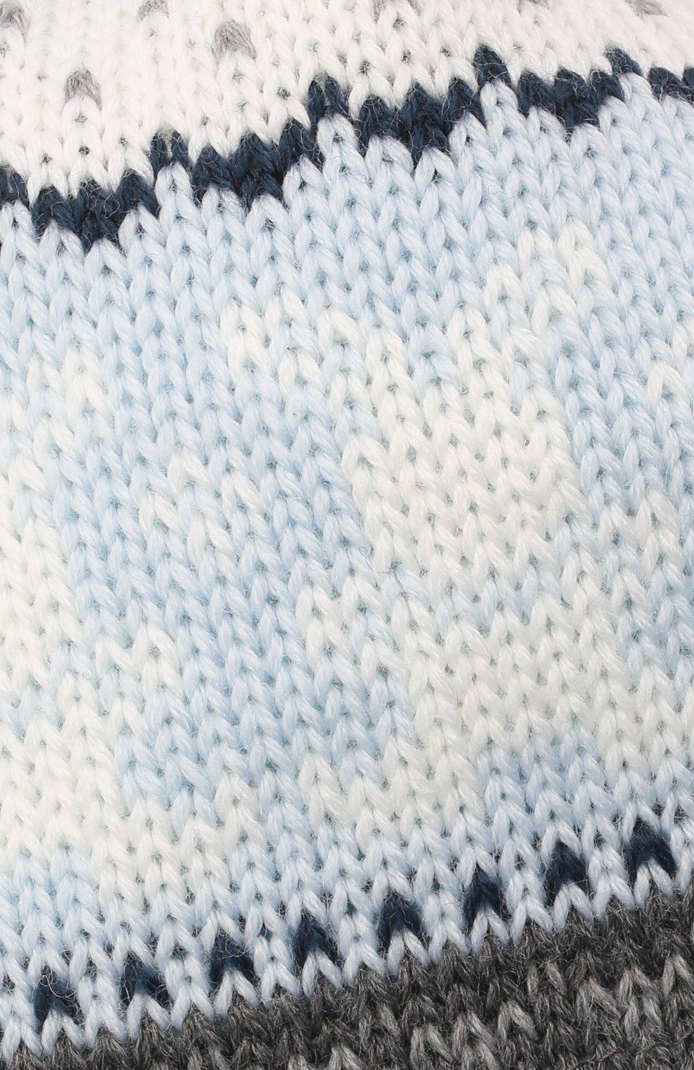Детского шерстяная шапка CATYA голубого цвета, арт. 125609/J0 | Фото 3 (Материал: Шерсть)
