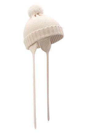 Детского шерстяная шапка CATYA кремвого цвета, арт. 125570/A | Фото 1