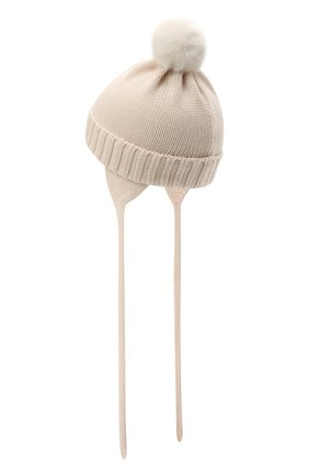 Детского шерстяная шапка CATYA кремвого цвета, арт. 125570/A | Фото 2