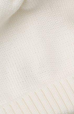Детского шерстяная шапка с меховой отделкой CATYA белого цвета, арт. 125562/AF   Фото 3 (Материал: Шерсть)