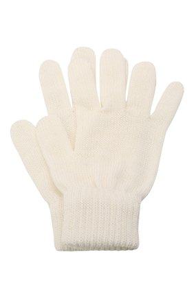 Детские шерстяные перчатки CATYA белого цвета, арт. 125545 | Фото 1