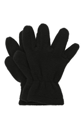 Детские перчатки CATYA черного цвета, арт. 125543 | Фото 1