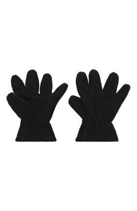 Детские перчатки CATYA черного цвета, арт. 125543 | Фото 2