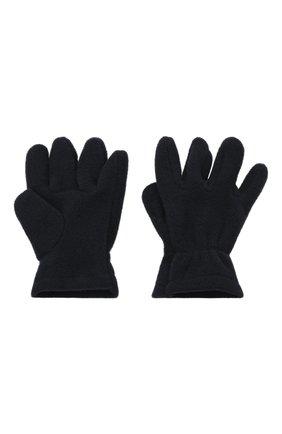 Детские перчатки CATYA темно-синего цвета, арт. 125543 | Фото 2