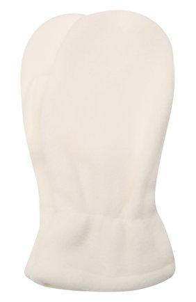 Детские варежки CATYA белого цвета, арт. 125542 | Фото 1 (Материал: Текстиль, Синтетический материал)