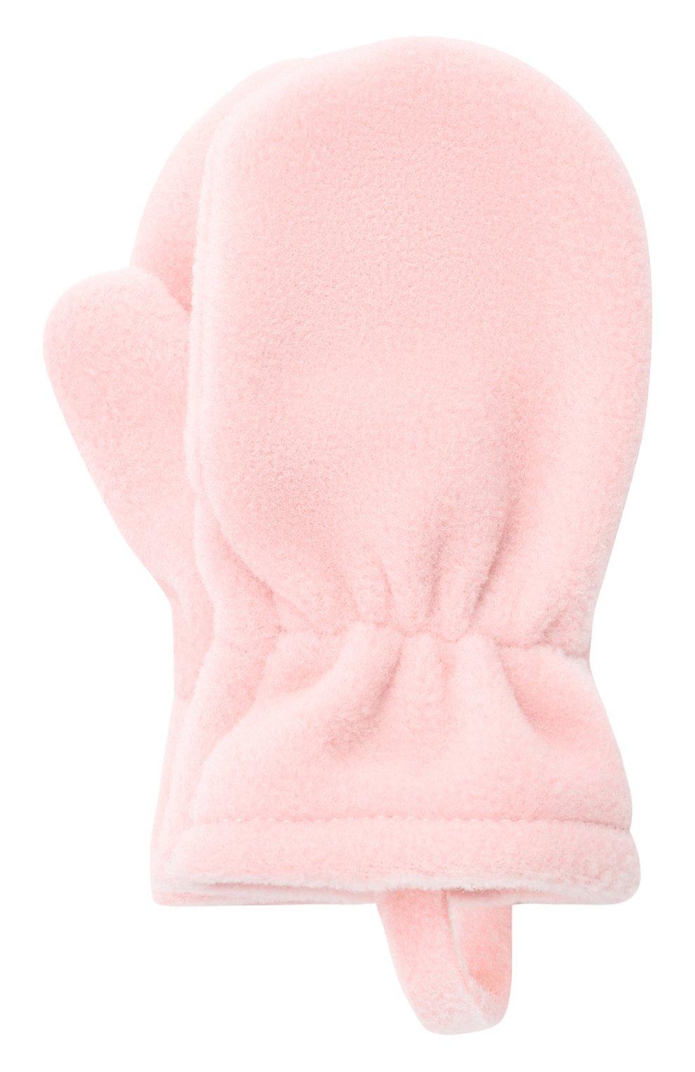 Детские варежки CATYA розового цвета, арт. 125542 | Фото 1 (Материал: Текстиль, Синтетический материал)