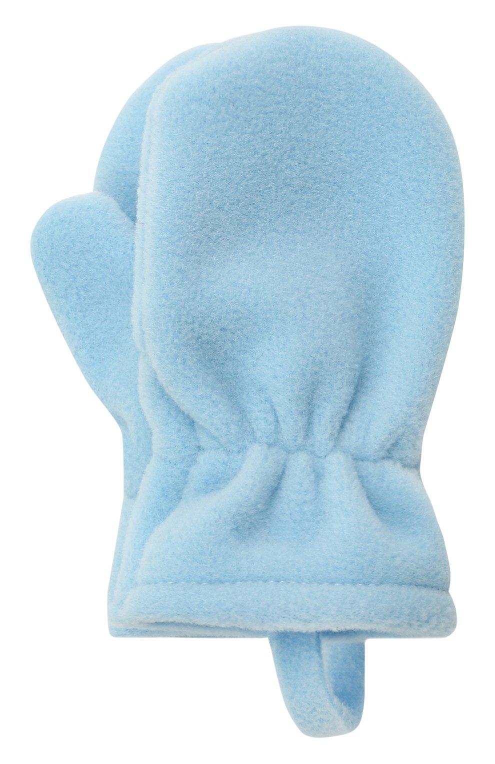 Детские варежки CATYA синего цвета, арт. 125542 | Фото 1 (Материал: Текстиль, Синтетический материал)